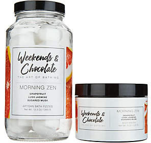 Weekends & Chocolate Treat Yourself Bath Bomb& Polish Duo