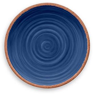 One Kings Lane Set of 6 Rustic Swirl Melamine Dinner Plates - Indigo