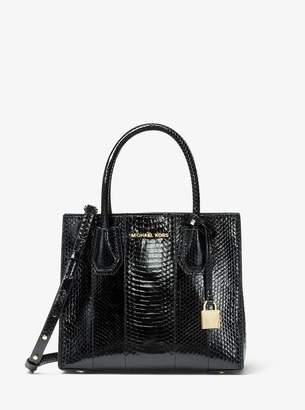 5cf958c85c15d MICHAEL Michael Kors Mercer Medium Snakeskin Crossbody Bag