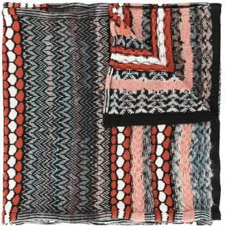 Missoni geometric pattern scarf