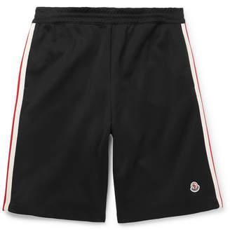 Moncler Wide-Leg Grosgrain-Trimmed Cotton-Jersey Shorts