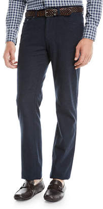 Peter Millar Side Flannel 5-Pocket Pants