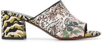 Etro multi pattern heeled sandals