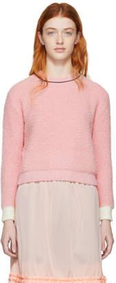 Marni Pink Boucle Cropped Sweater