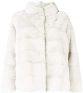 Simonetta Ravizza standing collar fur jacket