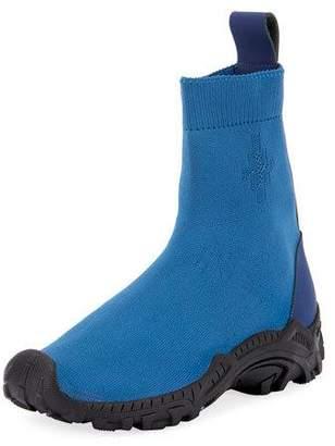 Marcelo Burlon County of Milan Men's Fly-Knit Sock Boot Sneakers, Blue