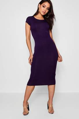 boohoo Cara Cap Sleeve Jersey Bodycon Midi Dress $14 thestylecure.com