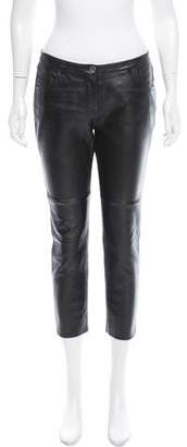 American Retro Leather Mid-Rise Pants