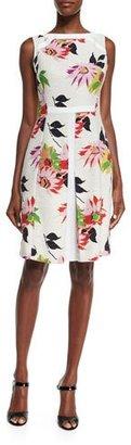 Etro Blossom Pleated Sheath Dress, White $1,575 thestylecure.com