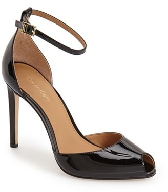 Calvin Klein 'Sirena' Ankle Strap Pump $118.95 thestylecure.com