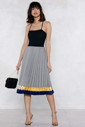 Nasty Gal Pleat Up Midi Skirt
