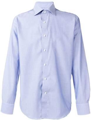 Canali classic plain shirt