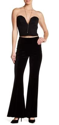 American Twist Velvet Plazzo Pants