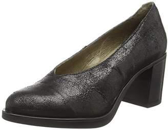 Fly London Women's SACO371FLY Closed Toe Heels, (Black 000), 3 (36 EU)