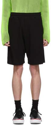 McQ Black Shrunken Shorts