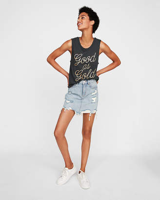 Express One Eleven Good As Gold Crew Muscle Tank