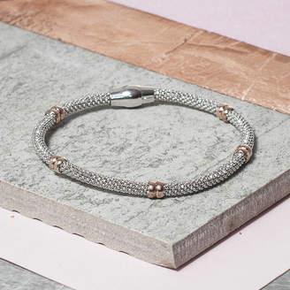 Co Loel & Silver Diamond Cut Bracelet With Rings