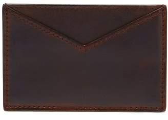 Calvin Klein Debossed Leather Cardholder - Mens - Red Navy