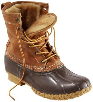 "L.L. Bean Women's Bean Boots by L.L.Bean, 8"" Tumbled-Leather Shearling-Lined"