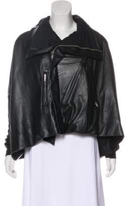 Rick Owens Oversize Leather Zip-Up Jacket