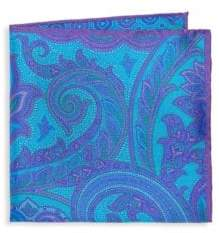 Saks Fifth Avenue Double Sided Silk Pocket Square