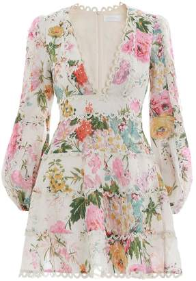 Zimmermann Heathers Flounce Short Dress