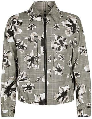 Neil Barrett Check Floral Jacket