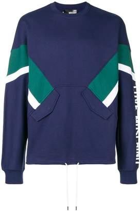 Love Moschino stripe detail sweatshirt