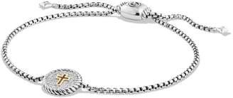 David Yurman 'Cable Collectibles' Cross Charm Bracelet with Diamonds