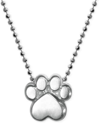 Alex Woo Little Activists by Paw Pendant Necklace in Sterling Silver