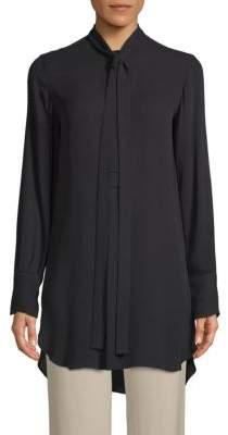 Valentino Self-Tie Silk Button-Down Shirt