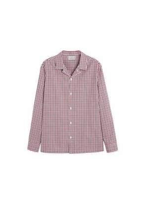 MANGO MAN - Regular fit gingham check shirt red - XS - Men