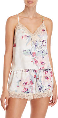 In Bloom Two-Piece Floral Satin Cami & Shorts Set