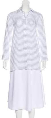 Alice + Olivia Striped Button-Up Top
