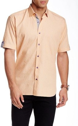Maceoo Luxor Printed Short Sleeve Semi Slim Fit Shirt (Big & Tall Available) $169 thestylecure.com