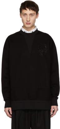 Alexander McQueen Black Neoprene Sweatshirt
