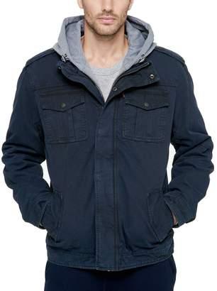 Levi's Levis Men's Sherpa-Lined Hooded Military Trucker Jacket