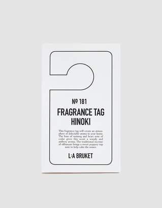 L:A Bruket Fragrance Hang Tag in Hinoki
