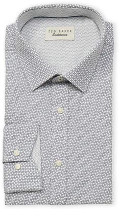 Ted Baker Endurance Block Tile Long Sleeve Dress Shirt