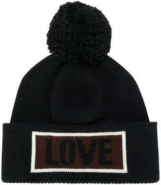 Fendi Love slogan beanie hat