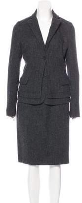Bottega Veneta Virgin Wool Knee-Length Skirt Suit