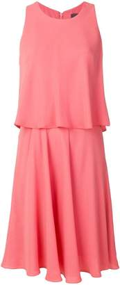 Max Mara double layer flared dress