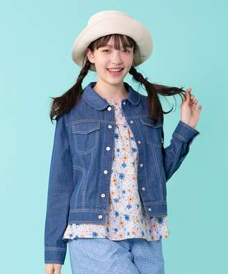 323706e17c45f Kumikyoku (組曲) - 組曲 KIDS  110〜140cm 花柄刺繍 デニム