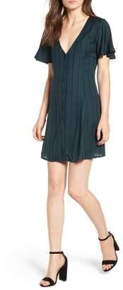 BP Plaid Button Front Dress