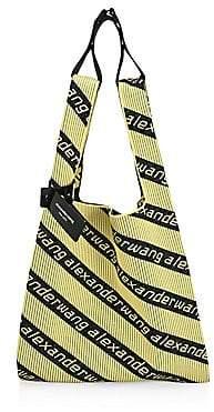 Alexander Wang Women's Logo Knit Jacquard Shopper