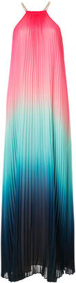 Trina Turk ombré pleated maxi dress