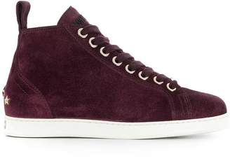 Jimmy Choo velvet lace-up sneakers