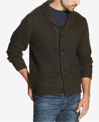 Weatherproof Vintage Men Shawl Collar Toggle Cardigan