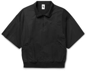 Nike Fear Of God Oversized Piqué-Panelled Nylon Half-Zip Jacket
