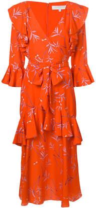 DAY Birger et Mikkelsen Borgo De Nor olive branch print ruffle layer dress